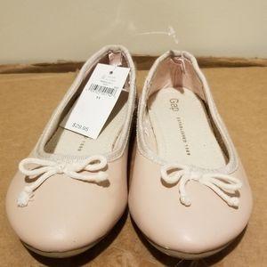 NWT sz 11 Girls Gap Pink Ballet flats dress Shoes